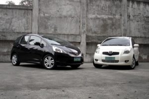 Toyota Yaris vs Honda Jazz GE8
